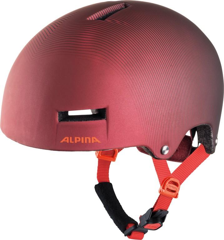 Alpina Airtime tmavě červená 52-57cm