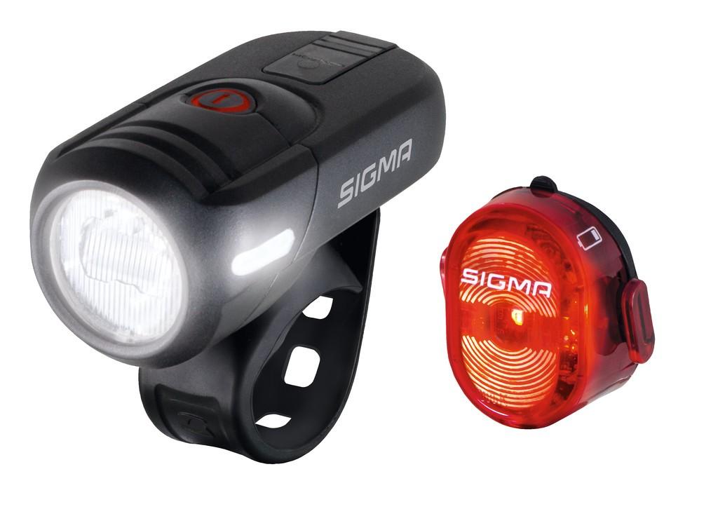 LED-osvetl.na bat.sada Sigma Aura 45 USB inkl Nugget II
