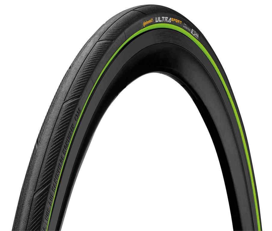 "Continental Ultra Sport III skládací, 28"" 700x23C 23-622 cerná/zelená Skin"