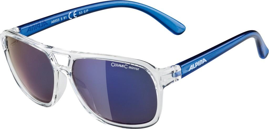 Slunecní brýle Alpina Yalla, Obroucky cirá/modrá Skla modrá vesp.S3