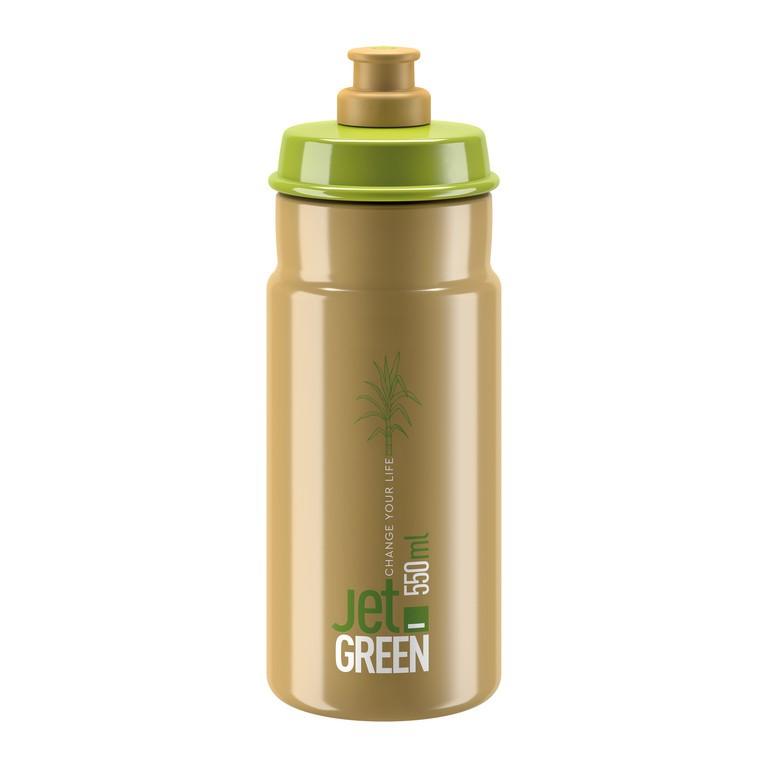Láhev Elite Jet Green, 550ml, zelená/hnedá