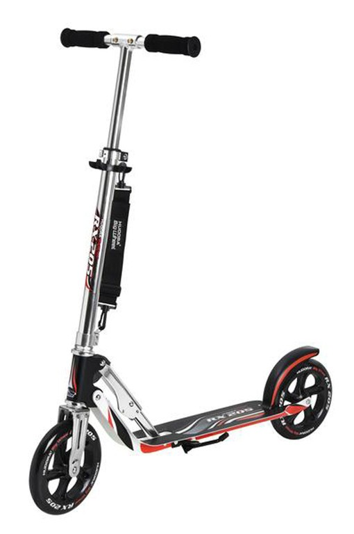 Diverse - City Scooter Big Wheel Hudora Alu 8Zoll RX205 schwarz/silber/rot 205mm RX-design