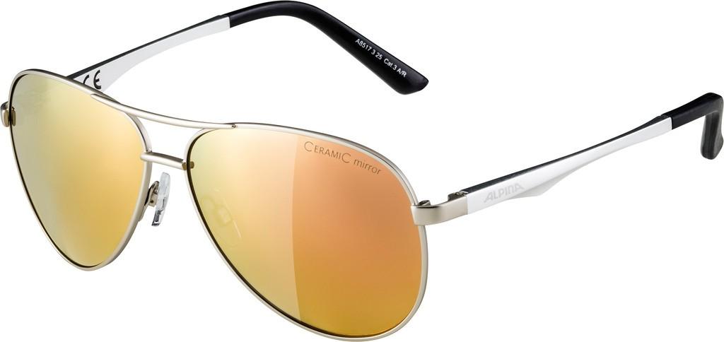 Slunecní brýle Alpina A 107, Obroucky str.mat.Skla ružová zlat.zrc.S3