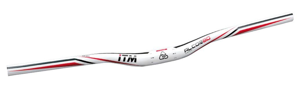 MTB ridítka ITM Alcor 80 MTB wht, Ø31,8 mm,640mm,Al 6061 sr.bíle lakované
