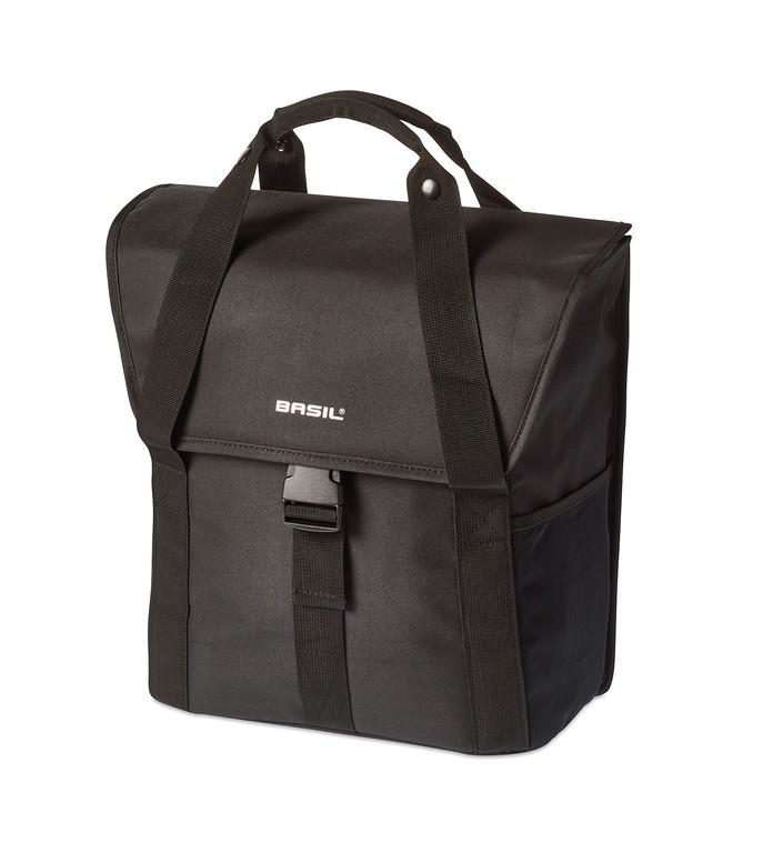 Jednoduchá taška Basil Go Single solid cerná 33x17x41cm, 16l