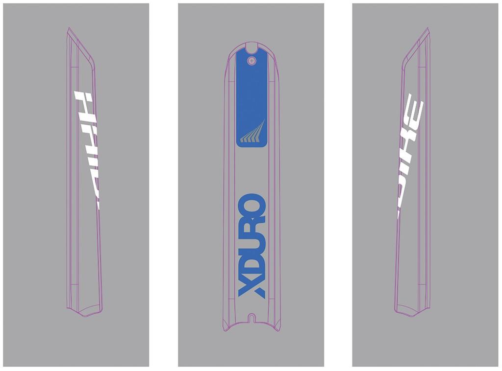 Dekor E-Bike Xduro p.skidplate baterie, 2018,HB-S15 platin.modrá+HB-S05 bílá
