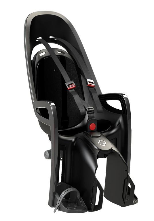 Detská sedacka Hamax Zenith nosic, šedá/cerná,  upevnení na nosic