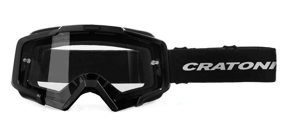 Cratoni C-Dirttrack černé (čiré sklo)