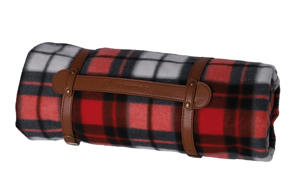 Picknic deka Winora cervená/šedá/bílá, 200x200cm