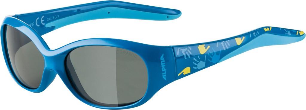 Slunecní brýle  Alpina Flexxy Kids Obrouc. Modrá sklo - cerná