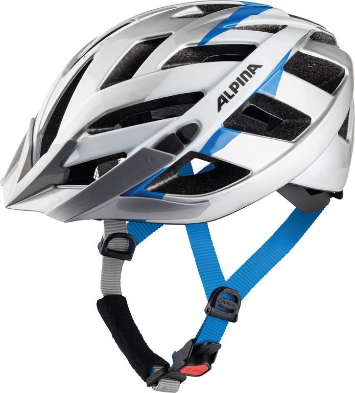 Cyklistická helma Alpina Panoma 2.0, stríbrná-bílá-modrá vel.52-57cm