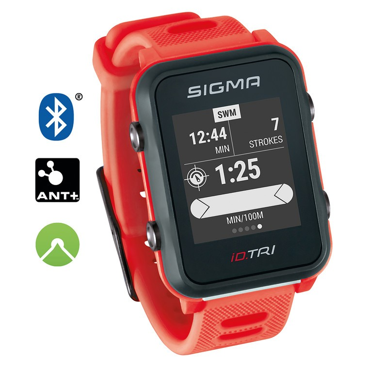 Sport. hodinky Sigma ID Tri Basic neon.cervená