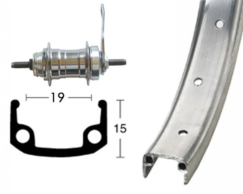20x1.75 36 der, Alu / zinek náboj zadní zpetné brzdy