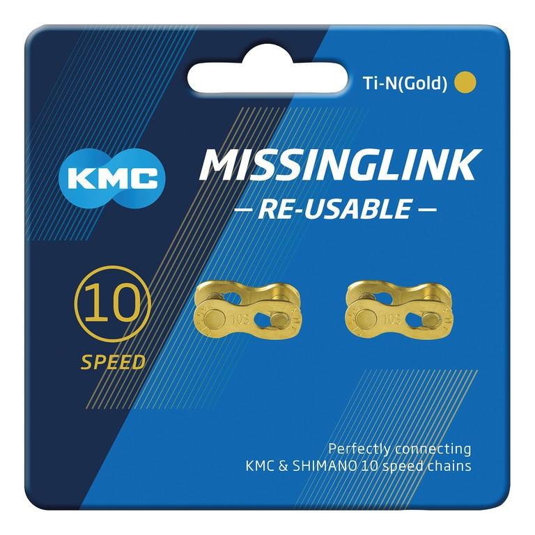 KMC Missinglink 10R Ti-N (2 ks) zlatá
