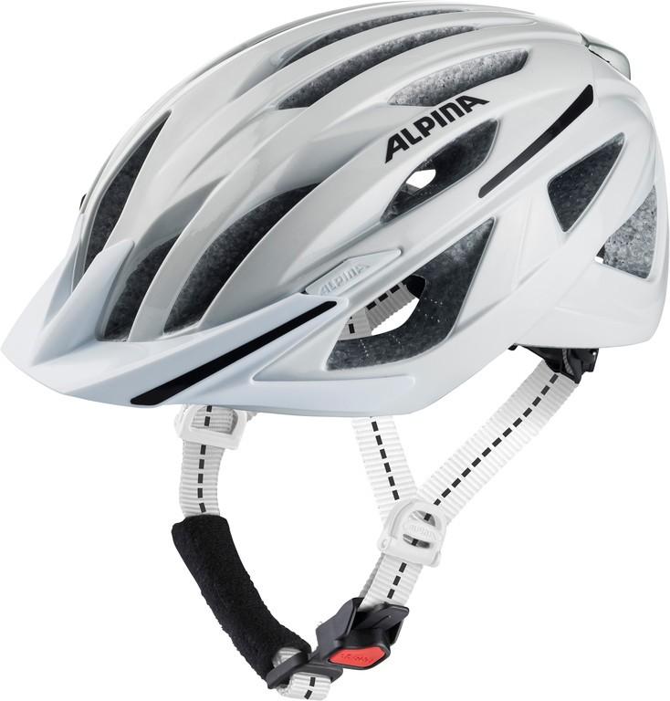 Cykl.helma Alpina Haga, bílá vel.51-56