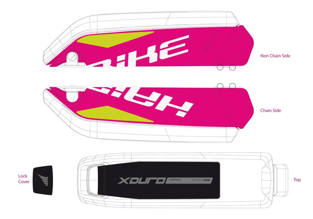 Haibike Xduro pro baterii 2015 bílá/lime