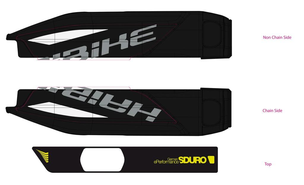 Haibike Sduro pro baterii Yamaha 2017 černá/bílá/lime
