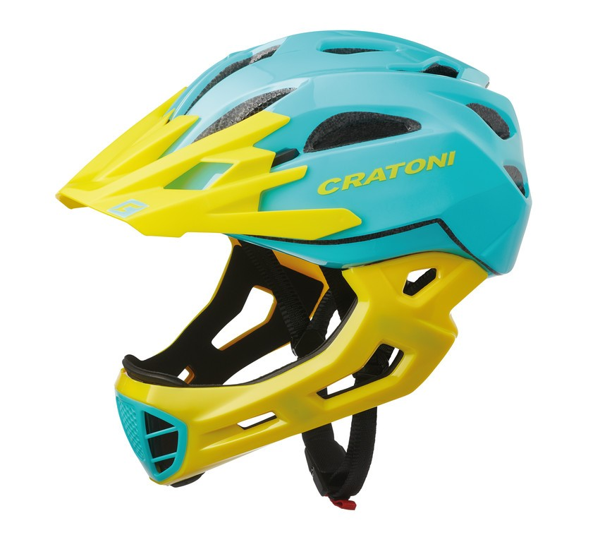 Cratoni C-Maniac (Freeride), Vel. S/M (52-56cm) tyrkys/žlutá lesk
