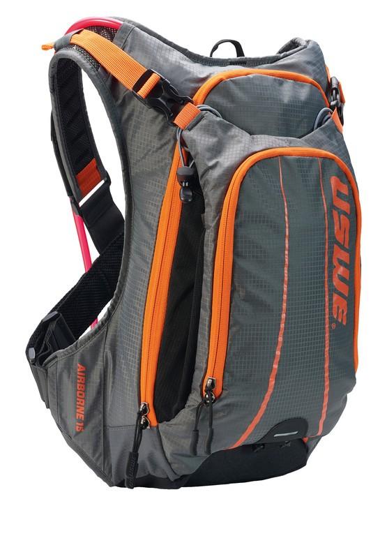Nápoj.batoh USWE Airborne 15, šedá/oranžová Mod 2020