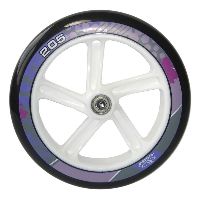 Kolečko Hudora Big Wheel 205 mm bílá/lila mod.14748