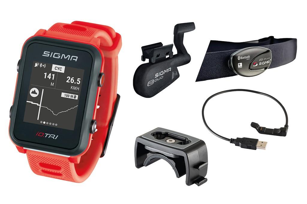 Sport. hodinky Sigma ID Tri Set neon.cervená