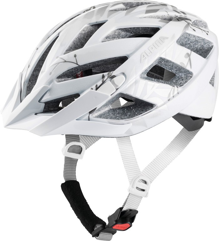 Cyklistická helma Alpina Panoma 2.0, bílá-stríbrná-leafs vel.52-57cm