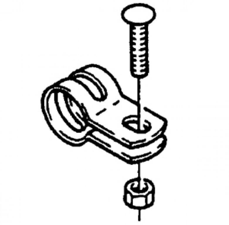 trubková objímka kruhová 22 mm, 65 0326 035 100