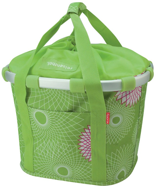 City-taška Bikebasket, limet.zelená, 35x28x26 cmm KLICKfix