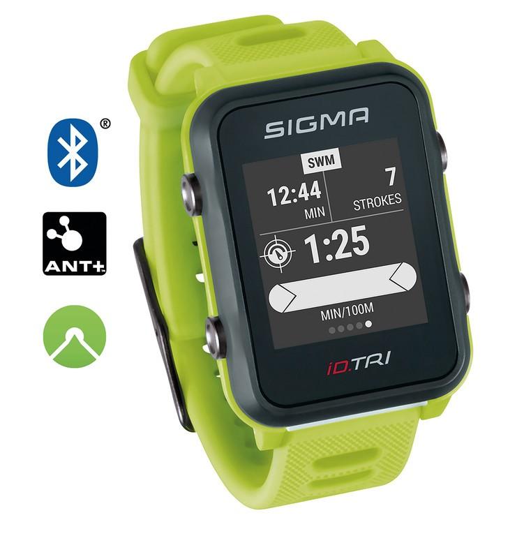 Sport. hodinky Sigma ID Tri Basic neon.zelená