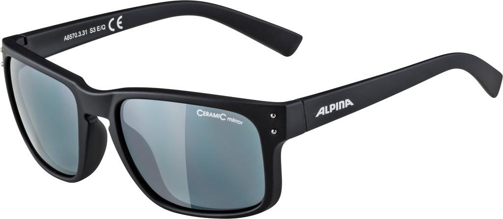 Slunecní brýle  Alpina Kosmic Obroucky cerná mat. sklo cerná zrcadl.