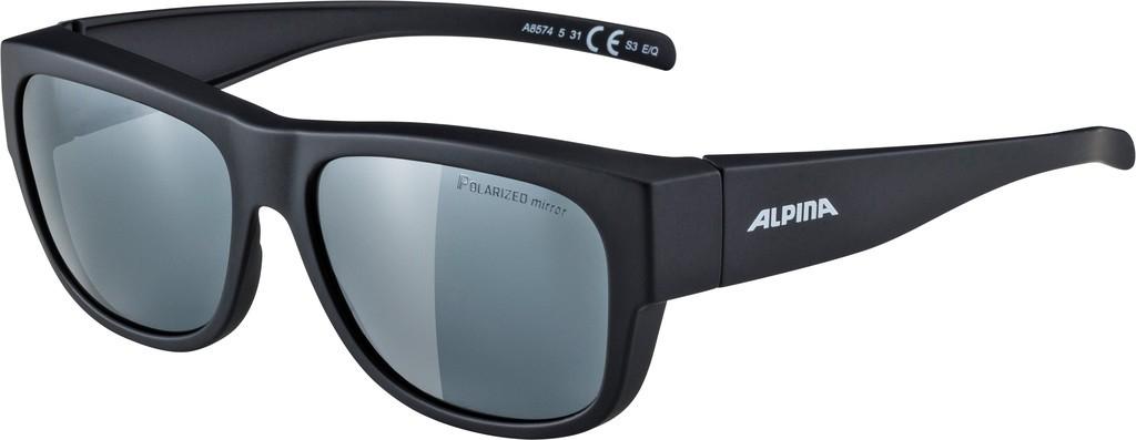 Slunecní brýle Alpina Overview II P, Obroucky crn skla polarizov.cerná zrc.