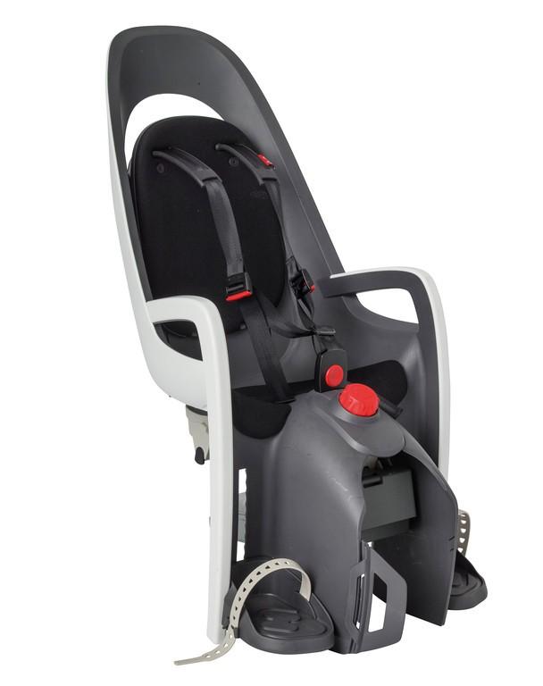 Detská sedacka Hamax Caress, na nosic, šedá/bílá/cerná, upevnení na nosic