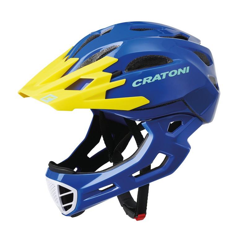 Cratoni C-Maniac (Freeride), Vel. M/L (54-58cm) modrá/žlutá lesk