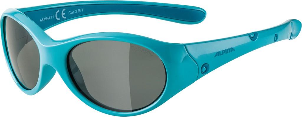 Slunecní brýle  Alpina Flexxy Girl Obroucky tyrkys sklo cerná