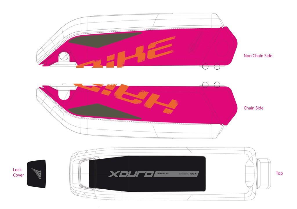 Haibike Xduro pro baterii Bosch Gen2 2015 oranžová/olivová