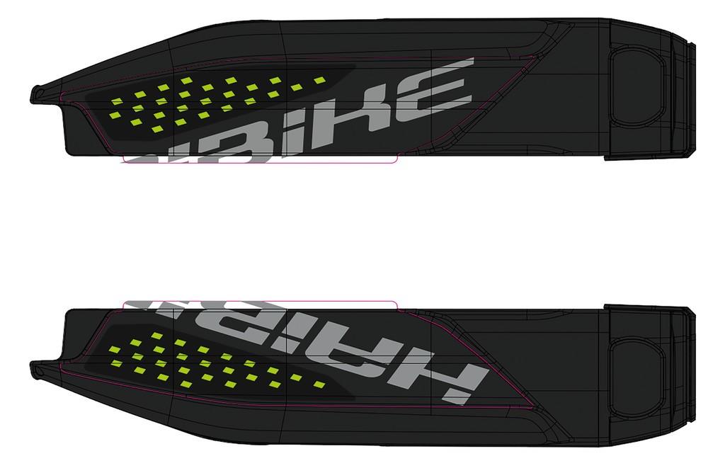 Dekor E-Bike Sduro p.kryt baterie, 2018, neon.zelená