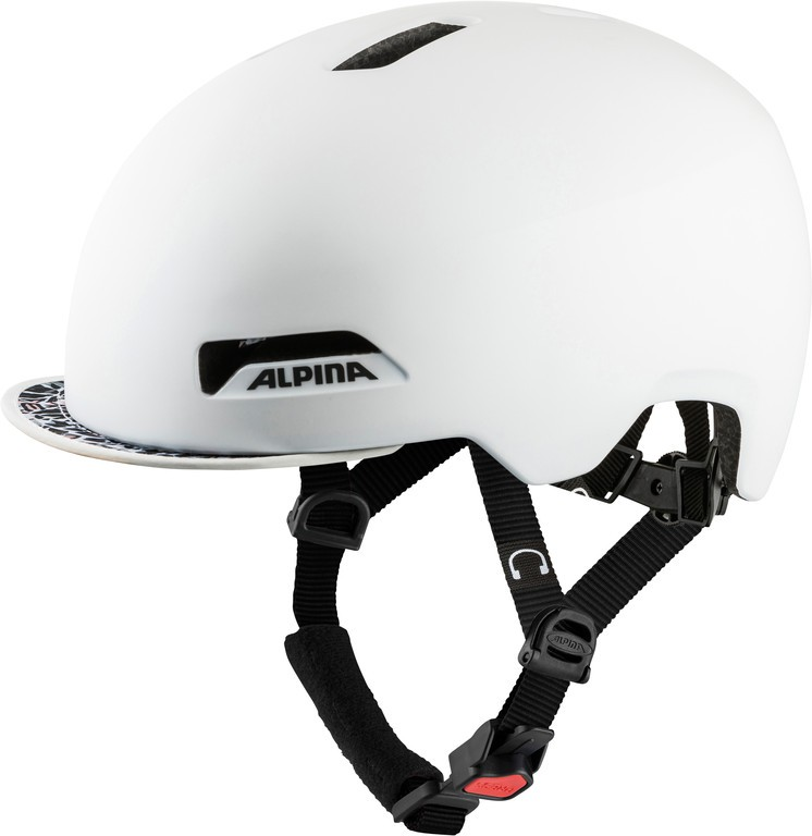 Cykl.helma Alpina Brooklyn perl.bílá mat. vel.52-57cm