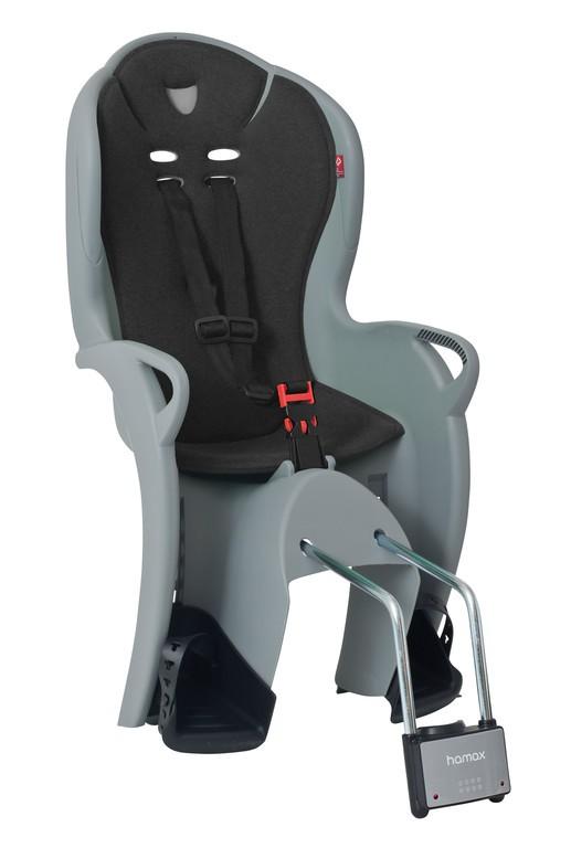 Detská sedacka Hamax Kiss šedá/cerná, upevnení na rámovou trubku