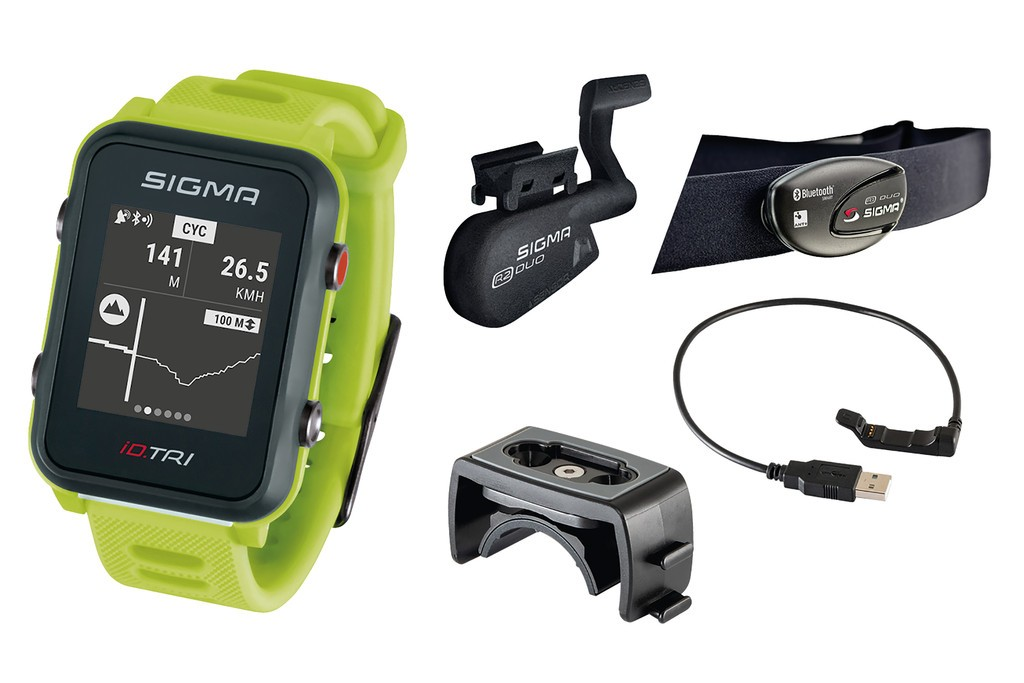 Sport. hodinky Sigma ID Tri Set neon.zelená