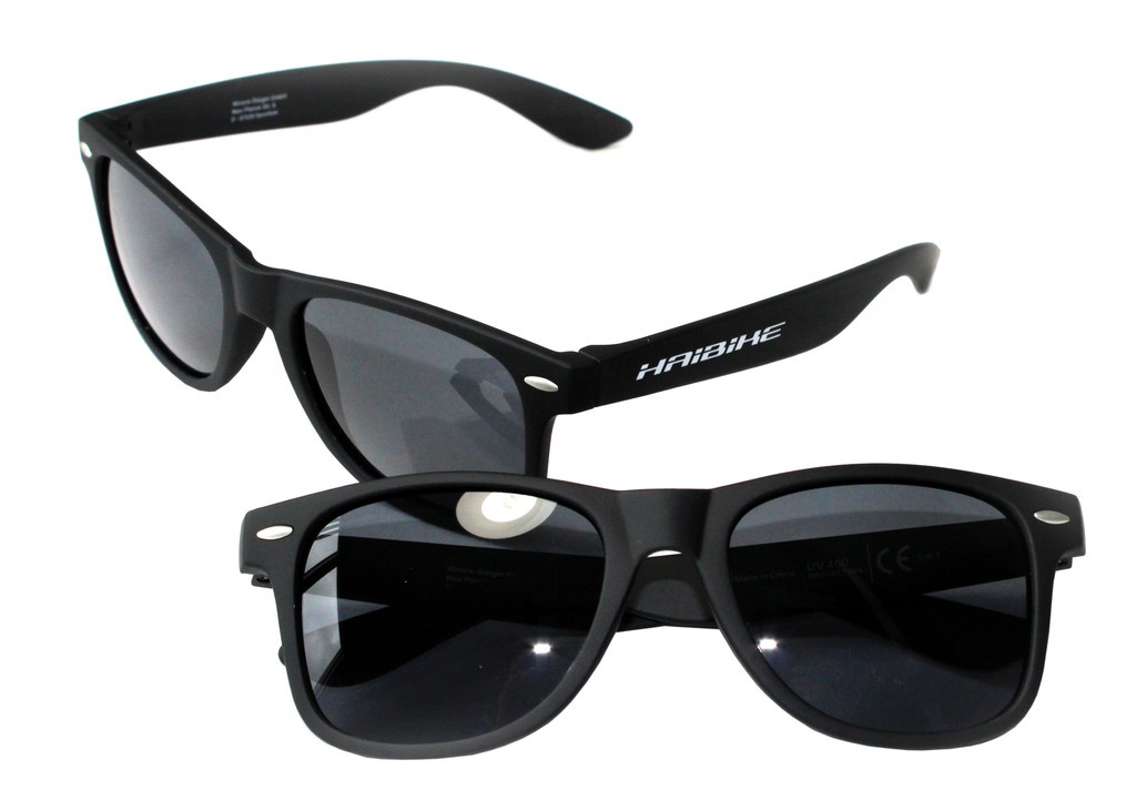 Haibike slunecní brýle rám cerná-Rubber, skla kourová