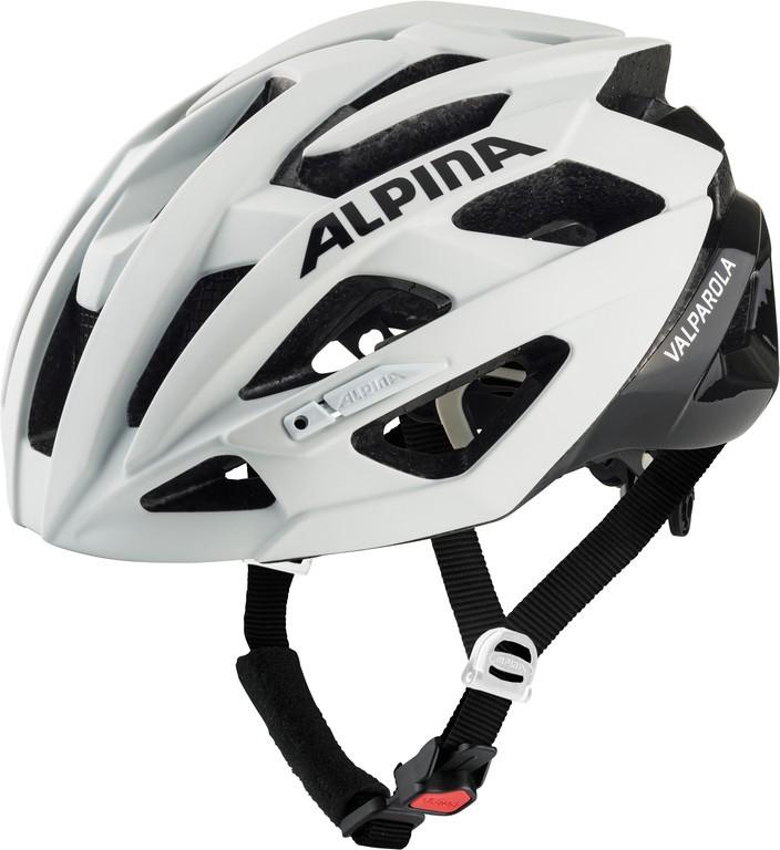 Cyklistická helma Alpina Valparola, white-black vel.51-56cm