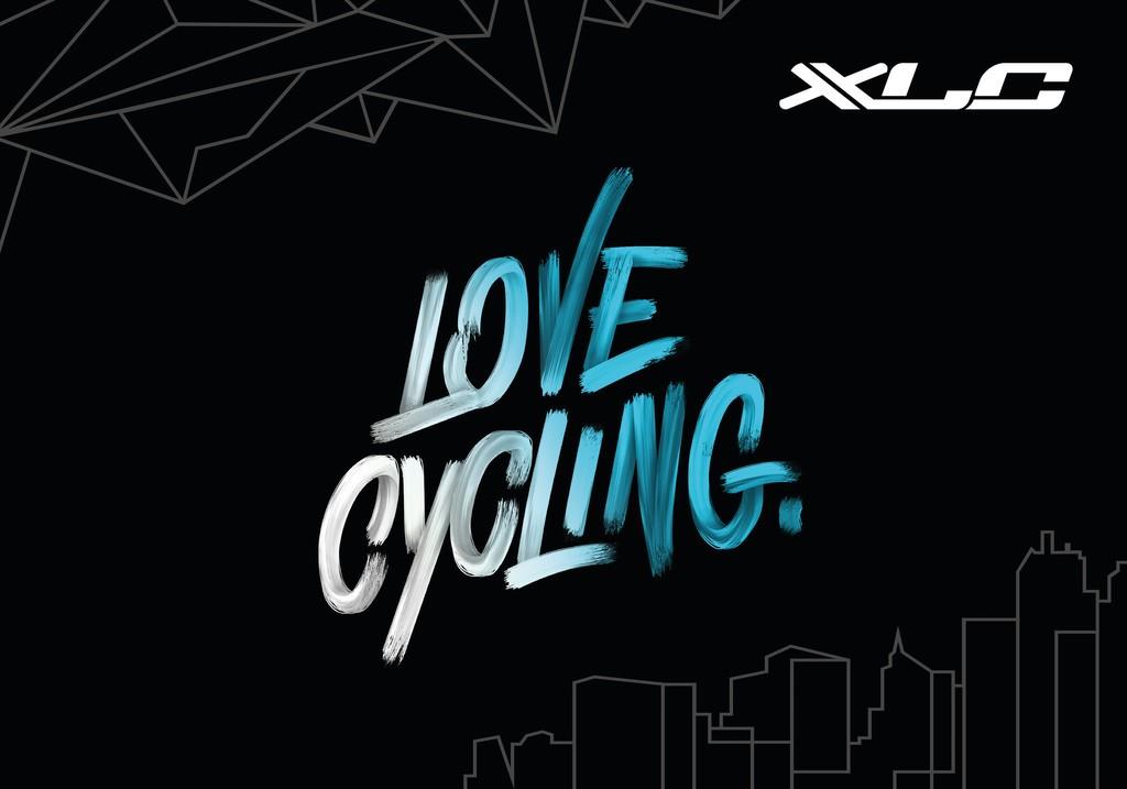 XLC koberec love cycling83x120cm, cerná/bílá/modrá