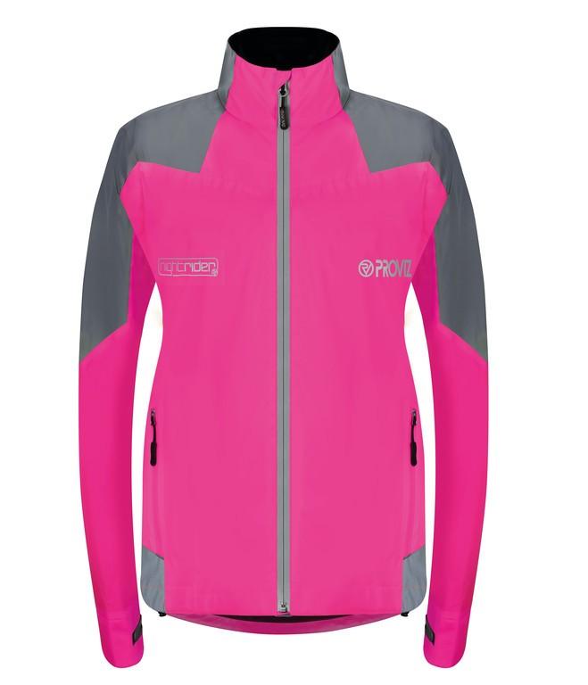 Proviz Nightrider bunda dámská ružová/reflexní, EUR34