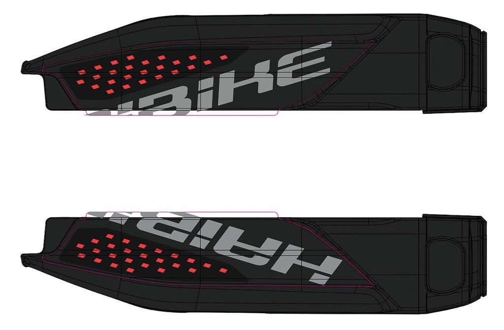 Dekor E-Bike Sduro p.kryt baterie, 2018, cervená