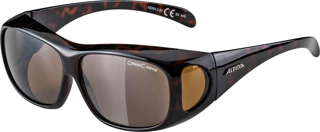 Slunecní brýle Alpina Overview, Obroucky havanna skla platin zrc.