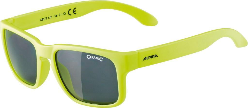 Slunecní brýle Alpina Mitzo, Obroucky neon žlutá sklo cerná zrcadl.S3