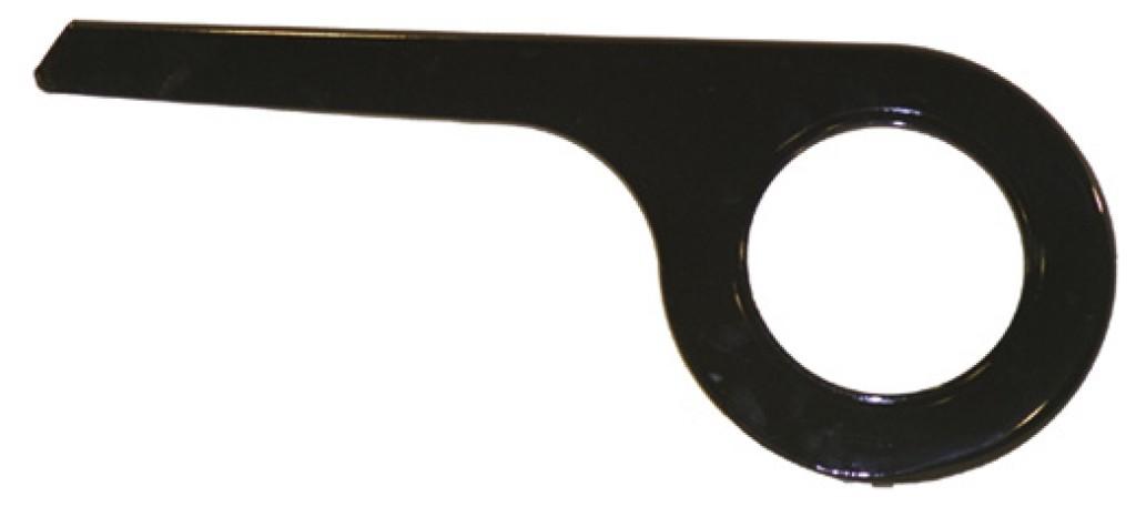 kryt prevodníku De Woerd 1-krídl.cerná do 40 zubu pro razení v náboji