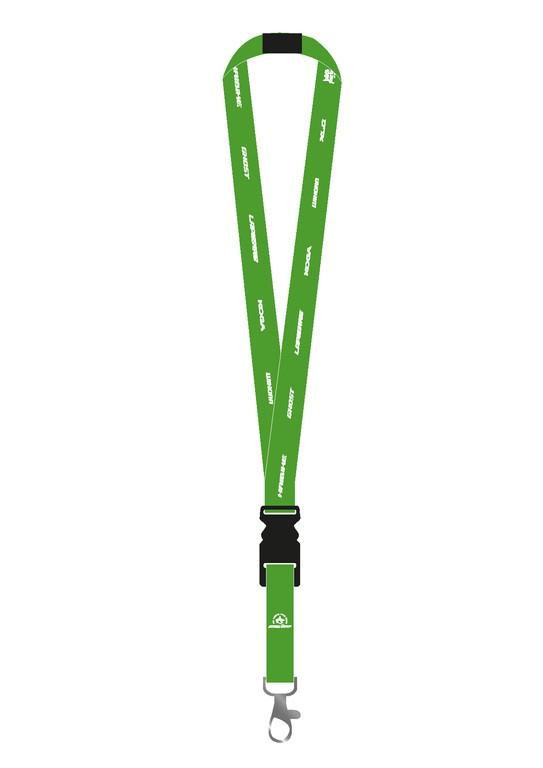 Šnuka na krk - všechny znacky zelená, 100% Polyester