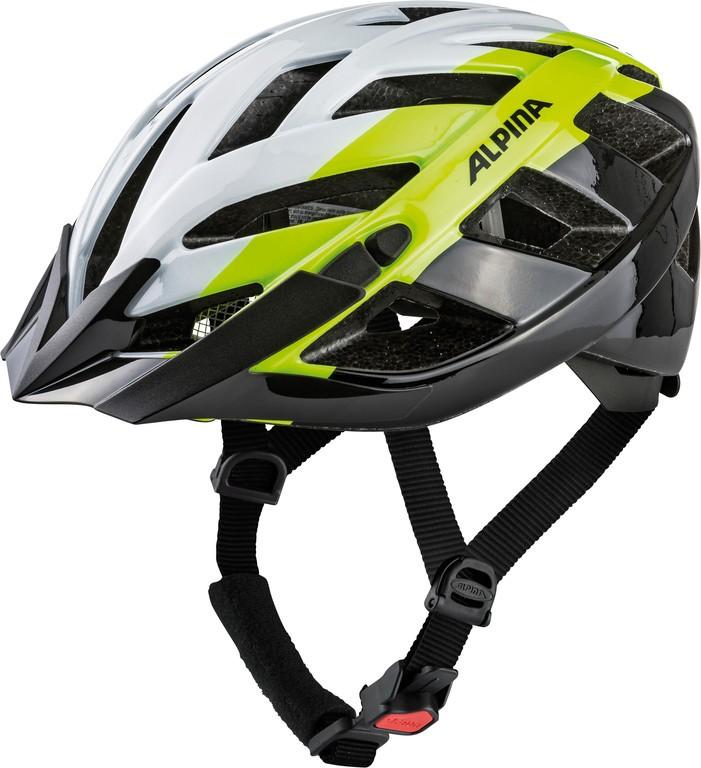 Cyklistická helma Alpina Panoma 2.0, white-neon-black vel.52-57cm