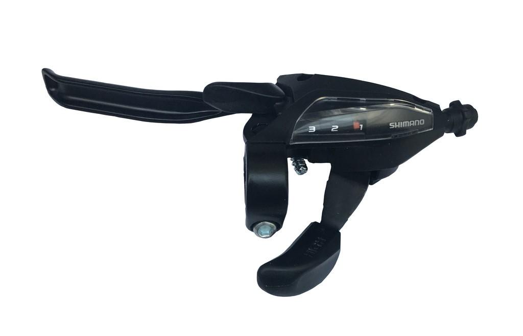 Rad+brzd.pácka Shimano ST-EF 500 4-prstá3-st. levá,V-Brake,1800mm,cerná